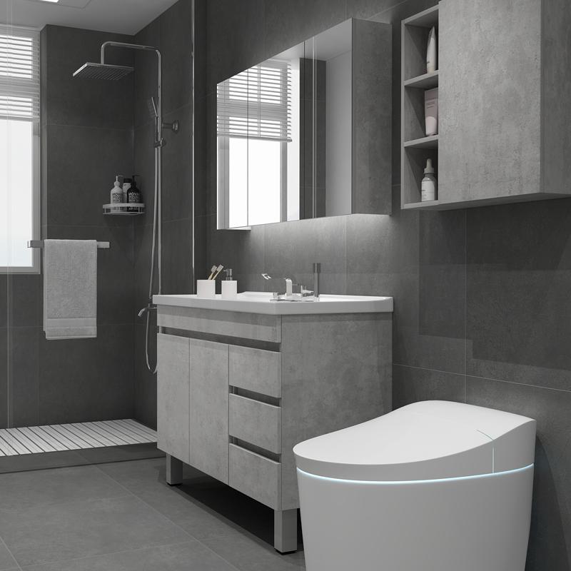 北欧浴室柜落地洗脸盆柜洗面盆柜卫生间洗漱台洗手盆柜组合落地式