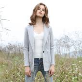 女外套潮秋款 单层弹力针织棉休闲纯棉针织西服薄款 欧美短款 小西装