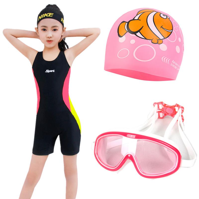 运动款女小学生连体平角游泳衣10月22日最新优惠