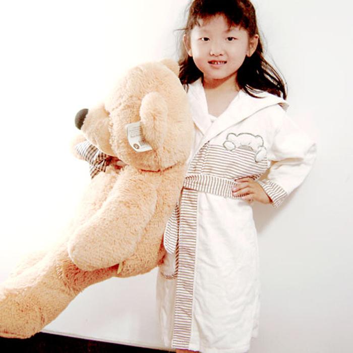 Леннон мужчина медведь, толстые хлопка полотенца бархатные халаты для девочек и мальчиков в юкату с капюшоном