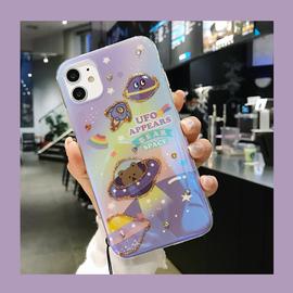 熊星球苹果11promax手机壳iPhonexsmax软壳xr镶钻苹果7plus浮雕8p图片