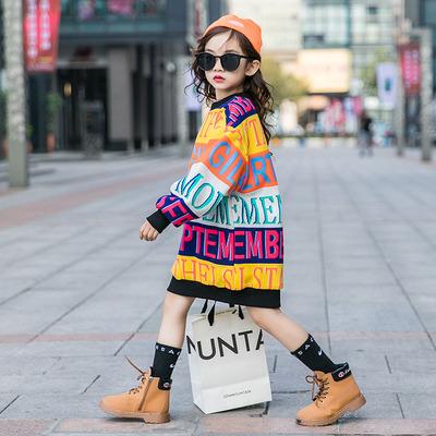 童装女童卫衣秋冬2020新款冬装加绒加厚韩版潮大童儿童洋气中长款