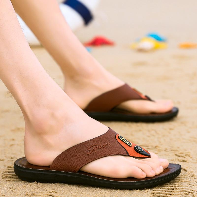 人字拖男夏室外潮流韩版个性外穿时尚厚底耐磨防滑沙滩凉拖鞋潮