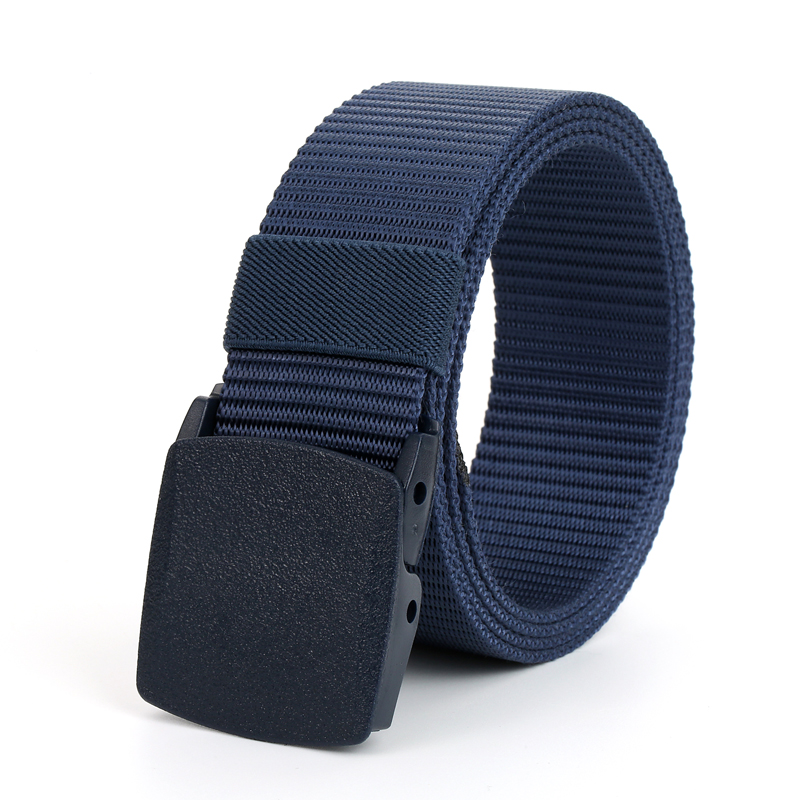 Anti allergy outdoor tactical belt male 511 nylon canvas plastic buckle belt military fans leisure belt