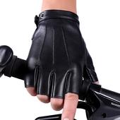 真皮半指手套男女薄款夏季透气皮手套进口羊皮露手指
