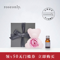 Roseonly Rose Fragrance Doll Bear rose ceramic Aromatherapy send lover to give girlfriend birthday present