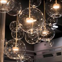 北欧灯具创意个姓餐厅吊灯三头后现代简约客厅灯艺术魔豆泡泡灯