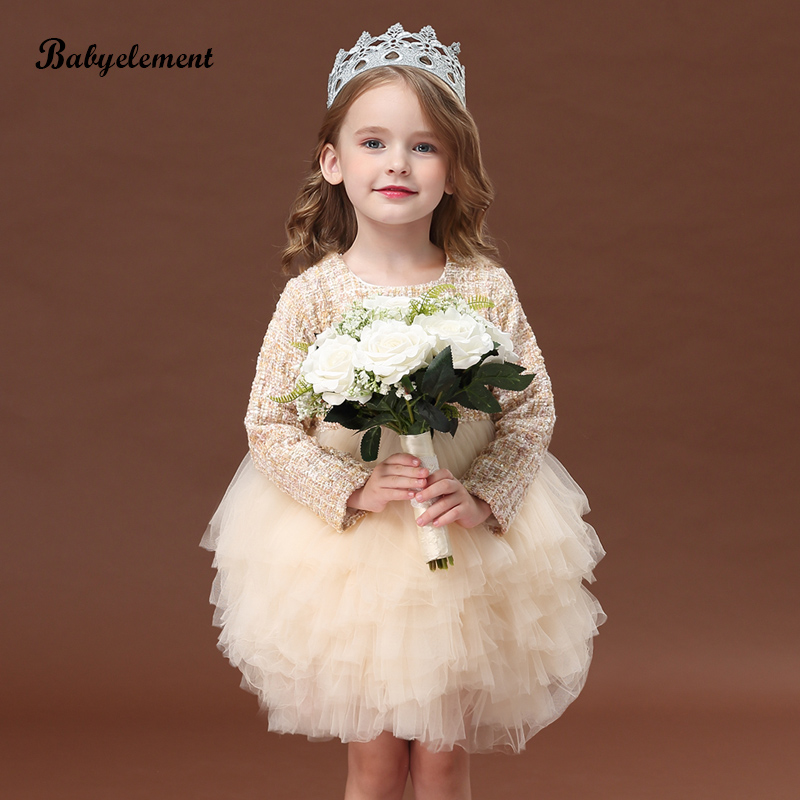 Girls' dresses, autumn clothes, new styles, western style and velvet children's clothes, autumn and winter clothes, princess skirts, fluffy yarn one-year-old dress