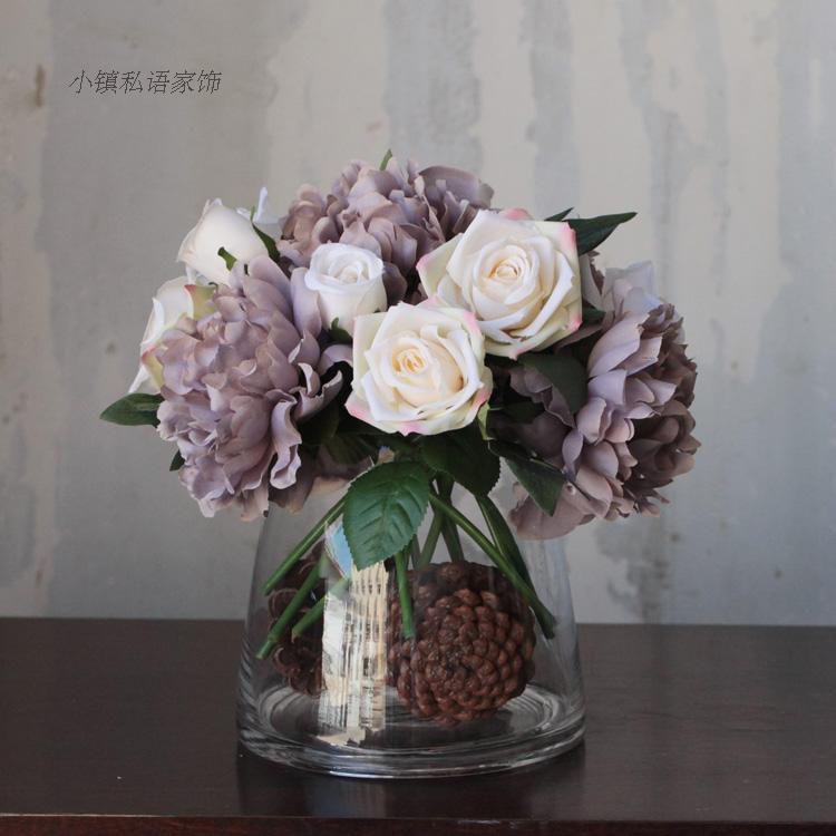 家居饰品创意时尚北欧装饰器皿摆件玻璃水培容器鱼缸台面花瓶花器