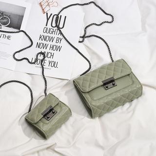 包包女2021新款韩版女学生斜挎小包女迷你小方包菱格链条包女包