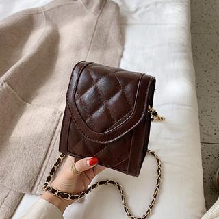 小包包女2021新款洋气链条单肩包秋季质感女包休闲包包菱格小方包