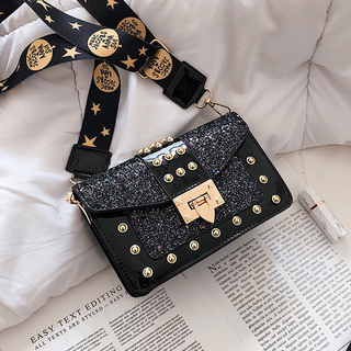 小包包2021新款潮韩版时尚chic链条包小方包宽肩带单肩斜挎包女包