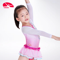 Lee Weika VCIA2018 New Toddler Happy gymnastics uniform long-sleeved jumpsuit