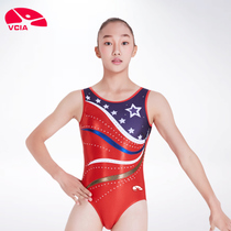 Lee Weika VCIA2018 Womens conjoined vest gymnastics clothing competition suit Athletic clothing
