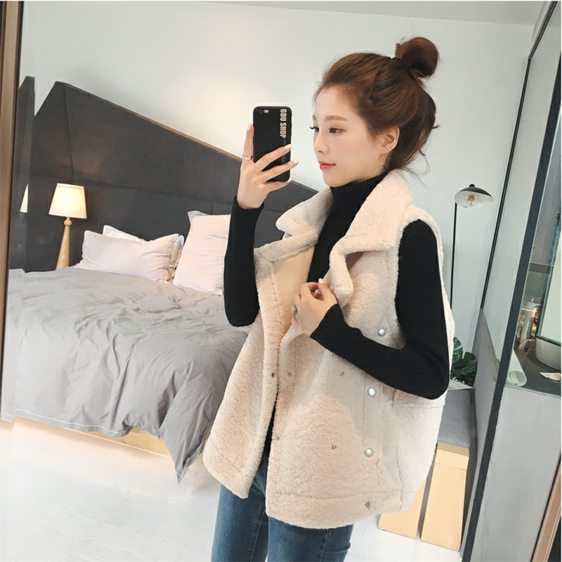 Autumn and winter cashmere short vest vest vest female 2018 new college style student sleeveless jacket jacket