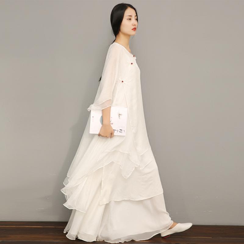 青央中国风白色禅意禅修女禅舞服限8000张券