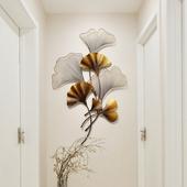 新中式铁艺挂件墙壁装饰客厅背景墙玄关壁饰创意壁挂银杏叶墙饰