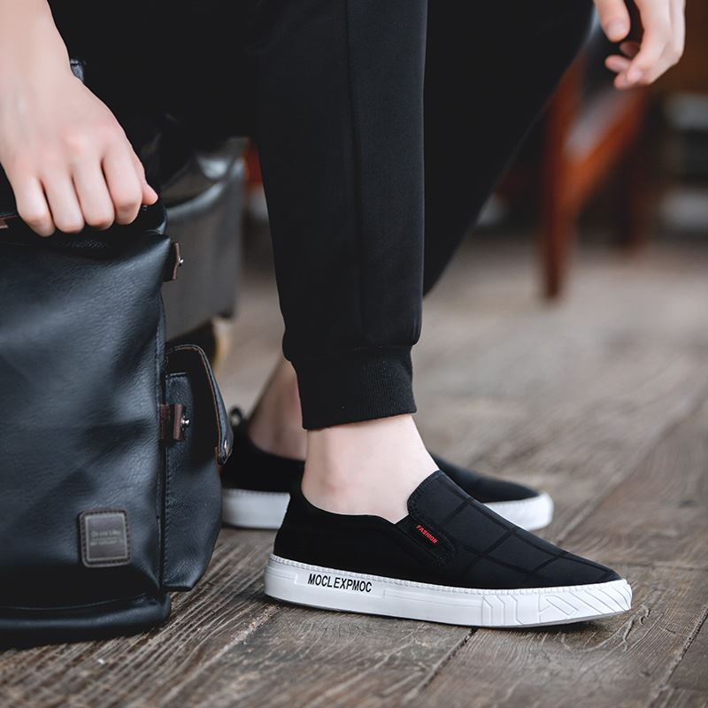Inner high heel no shoelace cloth shoes casual foot wave shoes spring and autumn mens travel mens shoes sports mens wear earth.