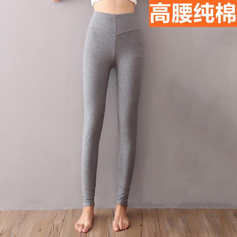 Линия брюки осенние брюки женщина хлопок один плотно тело теплые брюки размер толстый подкладка брюки талия тонкая модель хлопок волосы брюки