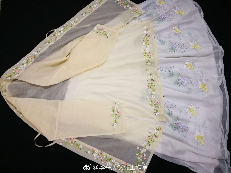 华兴唐汉服传统民族服饰宋制绣花长褙子长衫团购