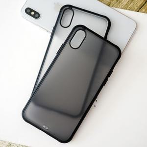 苹果iPhonexs手机壳X磨砂Xs Max全包Xr抗摔保护套 透黑 潮流 新款