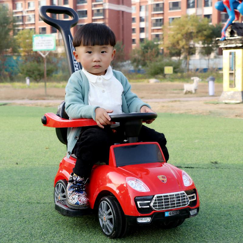 儿童扭扭车 溜溜车滑行手推车摇摆妞妞车音乐玩具学步车可坐1-3岁(用1元券)