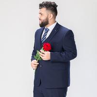 加大碼胖子西服套裝男寬松外套肥佬胖子結婚禮服伴郎團彈力西裝男