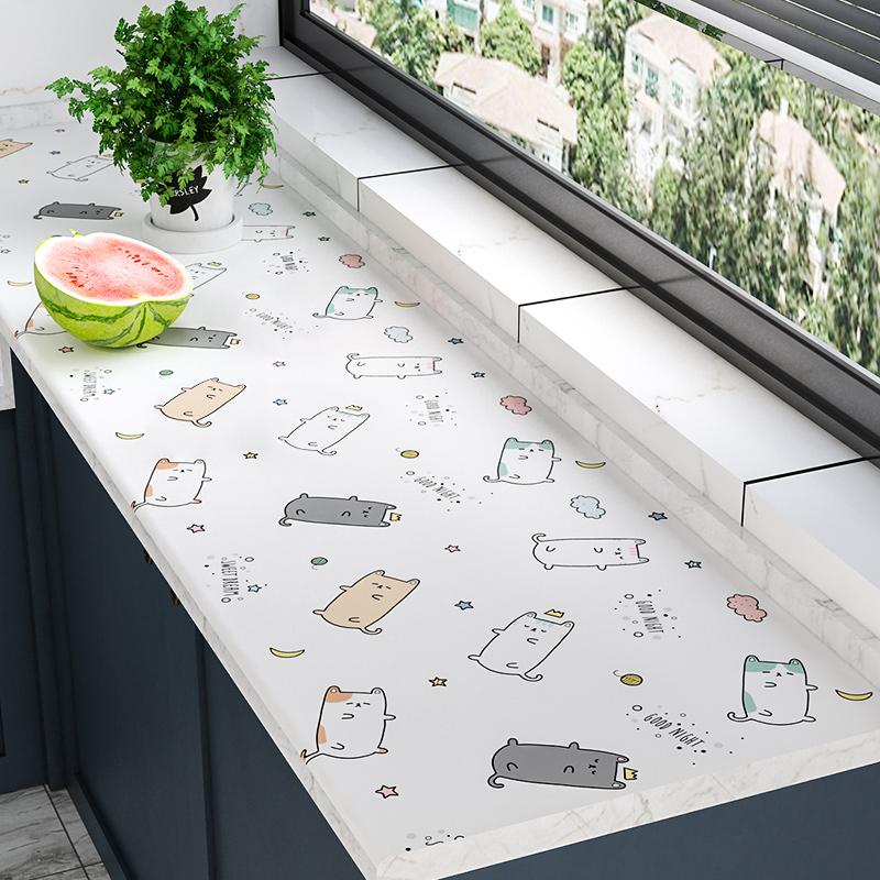 厨房防油贴纸防水防潮防霉自粘墙纸台面柜灶台用壁纸柜子装饰墙贴