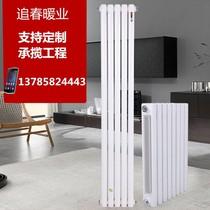 包邮家用暖气片大水道钢制二柱暖气片壁挂式钢制暖气片散热器