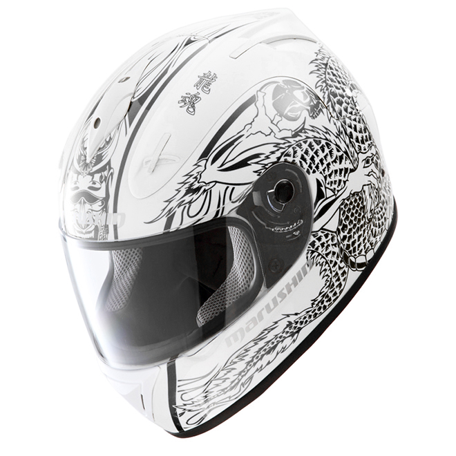 Email подлинный новый мотоцикл шлем анфас шлем marushin888RS malushenmalusen белый черный душа дракона