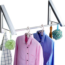 Drying rope can shrink stealth clothes rack toilet invisible bathroom Indoor hotel non-punching balcony drying rod