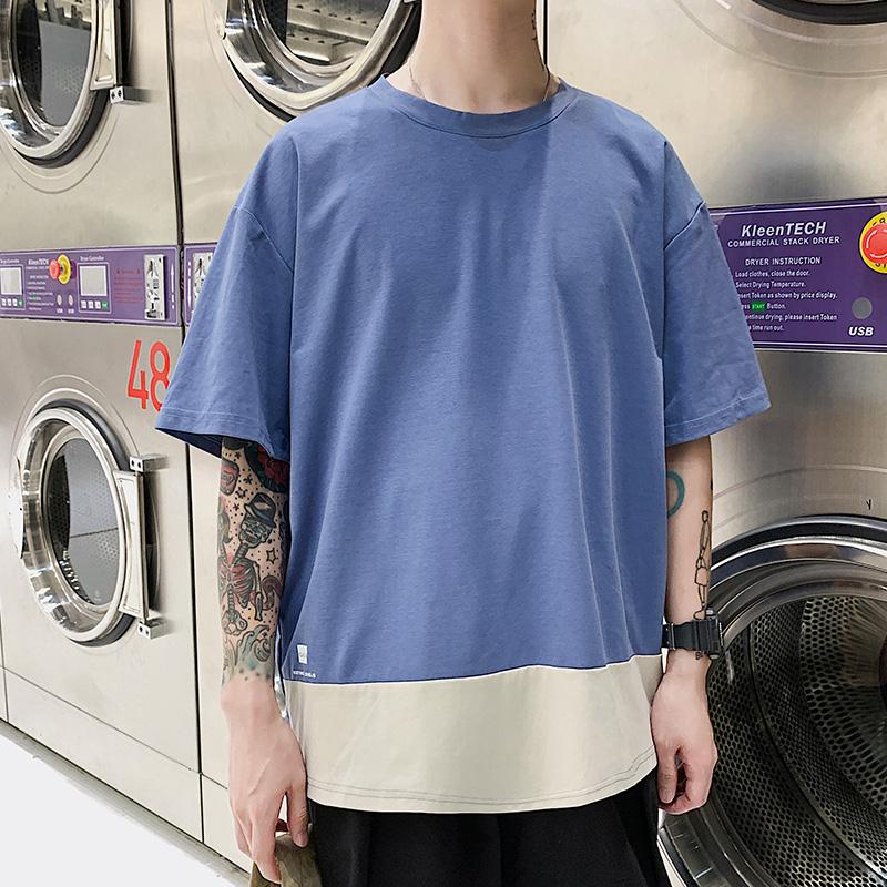 J短袖T恤男士潮流春夏季打底衫半袖體恤衫韓版白色上衣男裝9980
