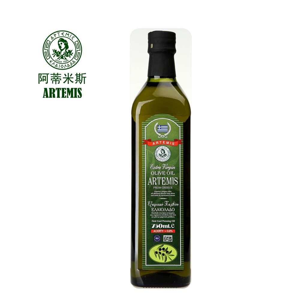 ARTEMIS阿蒂米斯 绿色系列 希腊原瓶原装进口特级初榨橄榄油750ML