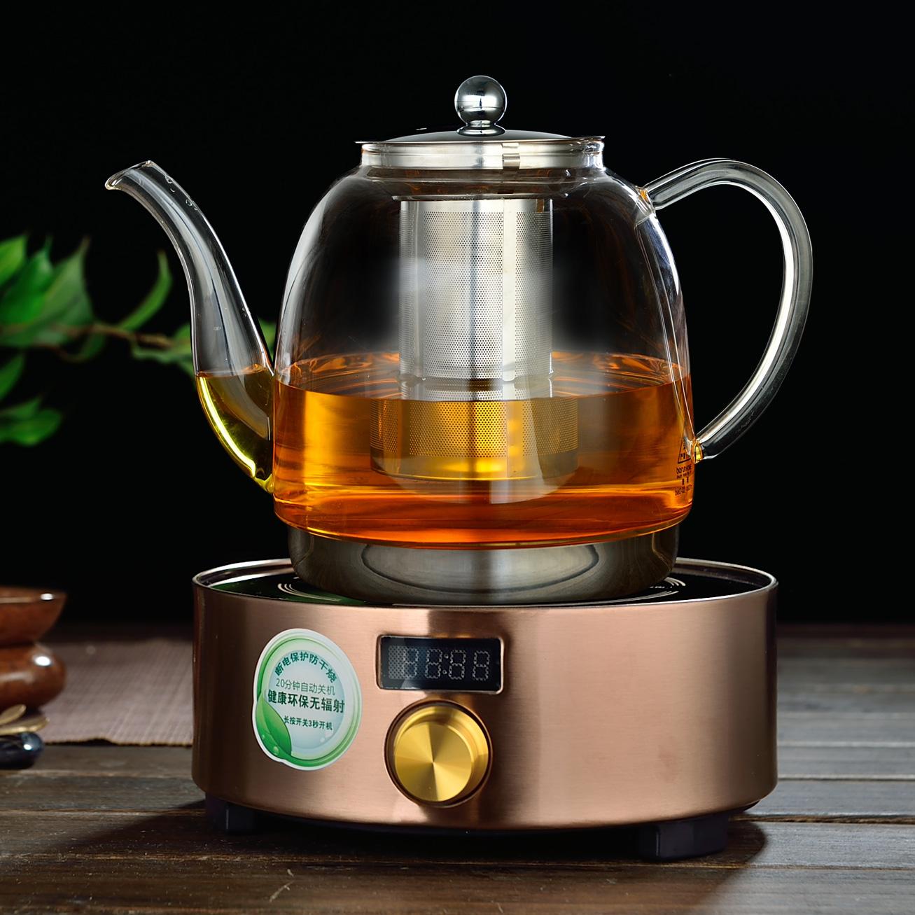 電磁爐 玻璃燒水茶壺養生壺電陶爐茶具套裝耐熱304不鏽鋼過濾