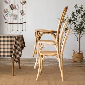 美式乡村复古椅子实木美式凳靠背椅
