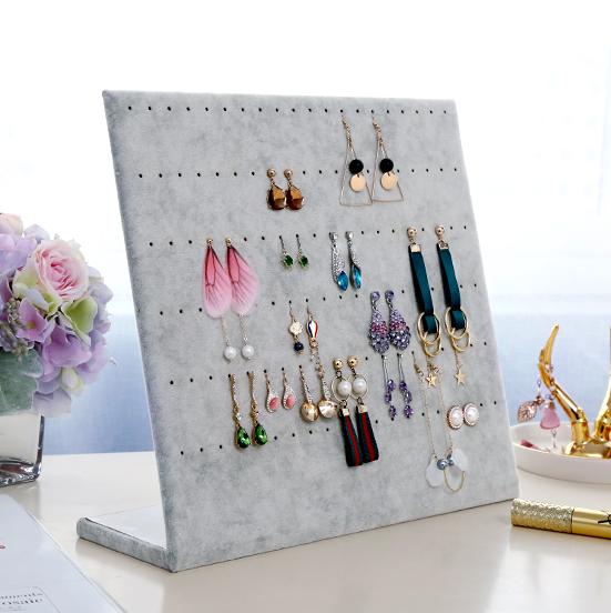包邮绒布首饰架立式牌耳钉耳环架针式耳环展示板珠宝饰品展示道具