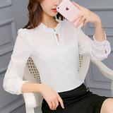 韩版长袖雪纺衫