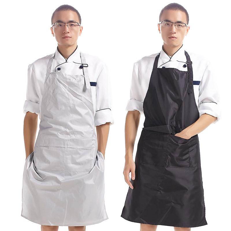 围裙 防水PVC厨房简约工作服 韩版时尚防水防油厨师围裙男女20020