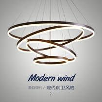 Modern minimalist led restaurant chandelier round Nordic living room chandelier Creative personality bedroom Luminaire 2018 New
