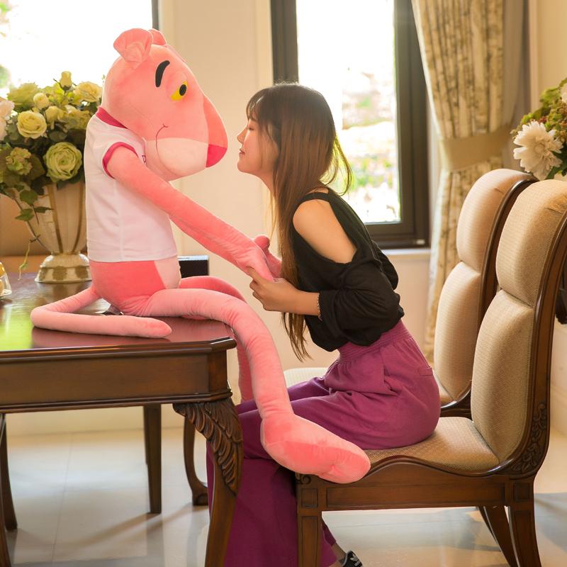 可爱粉红豹公仔超大号跳跳虎毛绒玩具达浪粉红顽皮豹韩国少女抱枕