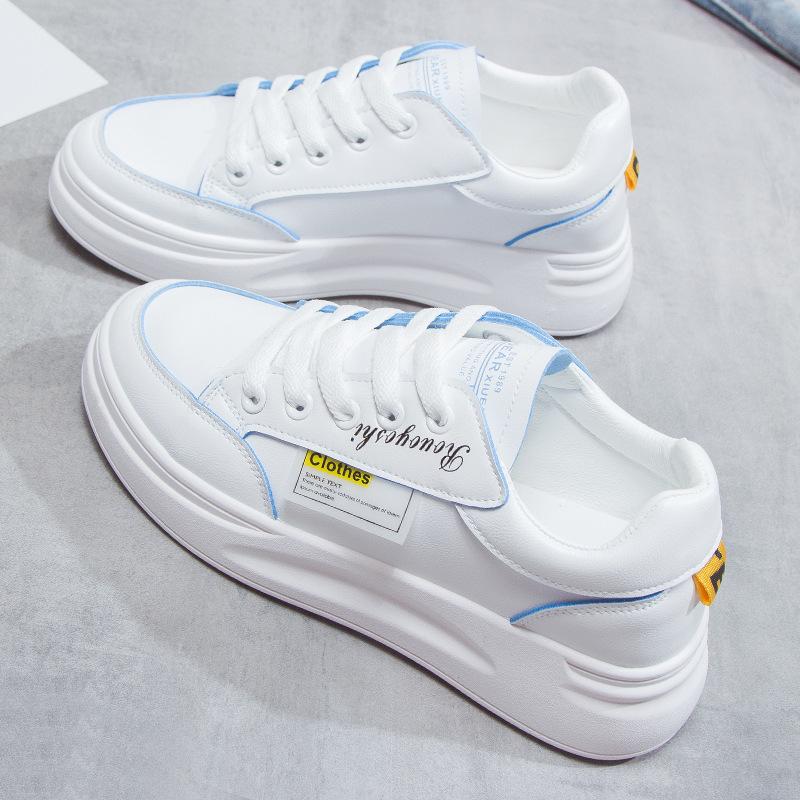 夏季新款小白鞋女韩版轻便休搭网红学生鞋ins潮低帮鞋白色系带