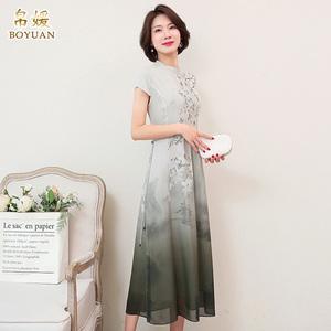 帛媛杭州2021春夏新款短袖连衣裙