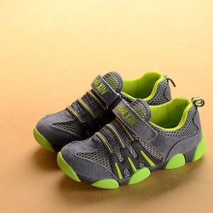 春夏款4真皮<span class=H>童鞋</span>小童5网面透气6儿童运动鞋男孩子宝宝男童网鞋7岁
