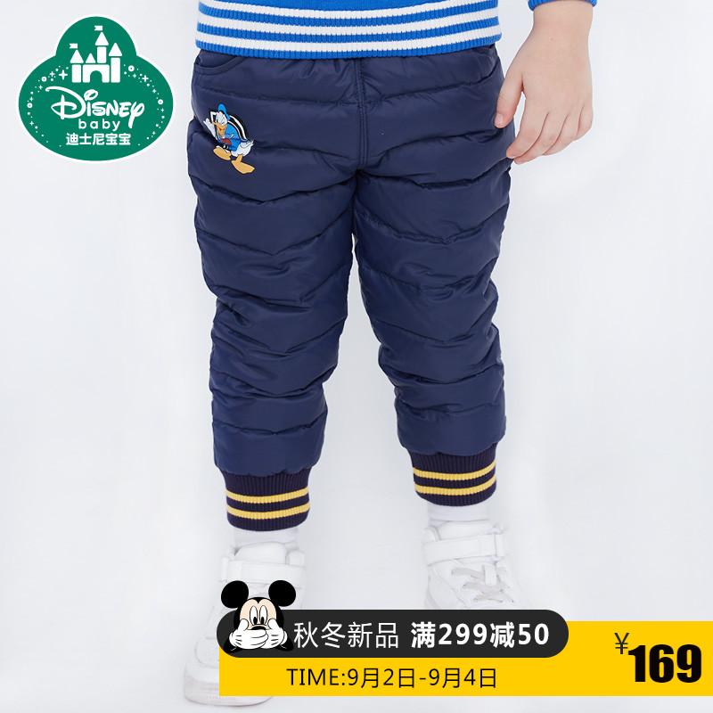 Disney ребятишки мальчиков тканый четыре вниз брюки теплые брюки дисней 2017 новый зимний осенний детей