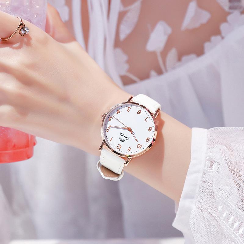 女士手表女学生ins风韩版时尚简约气质真皮防水少女表2020年新款