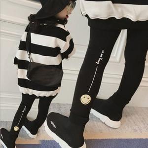 童装中小童儿童小脚裤靴裤长裤 2020秋装女童宝宝卡通打底裤