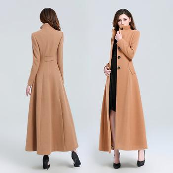 2019新款流行秋冬季双面羊绒风衣