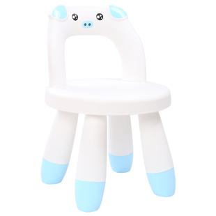 小熊加厚塑料靠背椅卡通寶寶大小凳子兒童餐椅小椅子家用板凳彩色