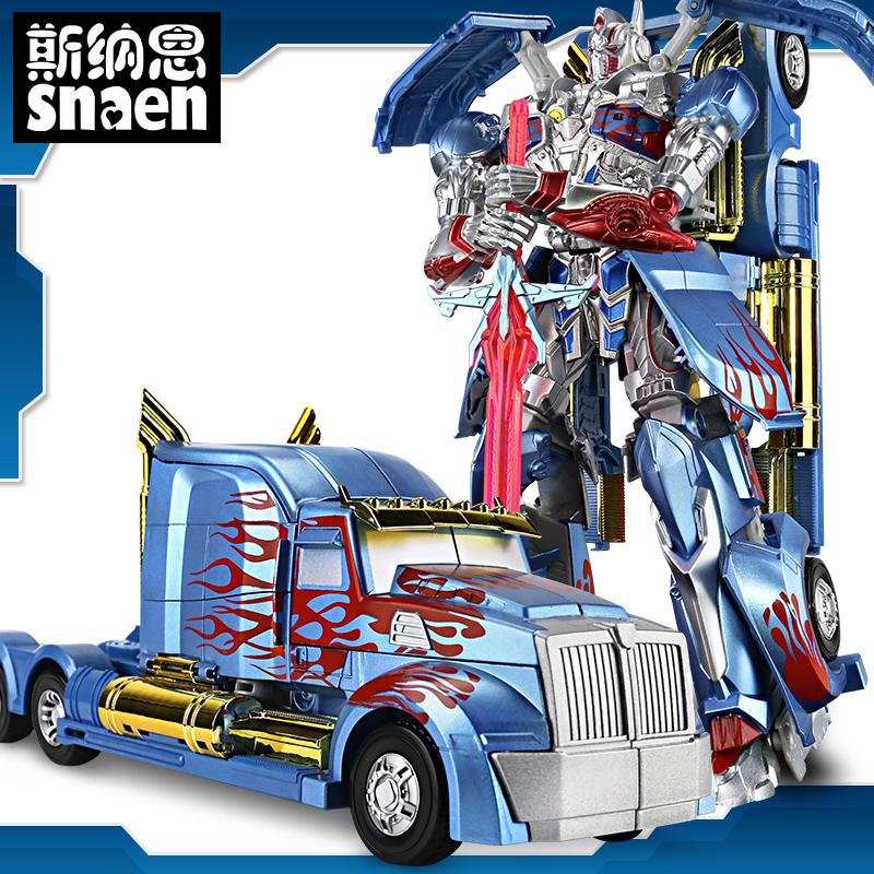 Рука сделать сплав деформировать игрушка алмаз 5 оптимус прайм шмель автомобиль робот модель подлинный ребенок мальчик