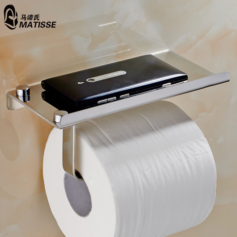 304不鏽鋼衛生間廁所 紙巾架 卷紙廁紙架 手紙架衛生紙巾盒手機架